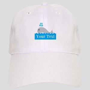 Personalizable Gray Whale Baseball Cap