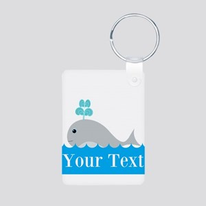 Personalizable Gray Whale Keychains