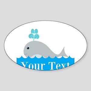 Personalizable Gray Whale Sticker