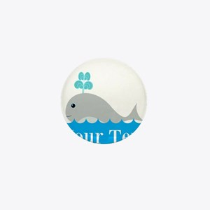 Personalizable Gray Whale Mini Button