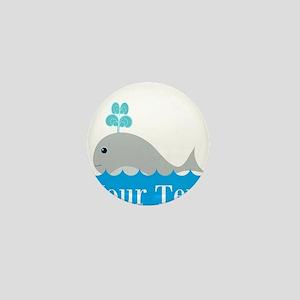 Personalizable Gray Whale Mini Button
