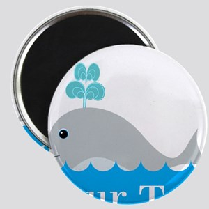 Personalizable Gray Whale Magnets