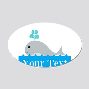 Personalizable Gray Whale Wall Decal