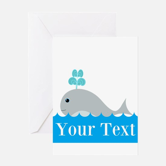 Personalizable Gray Whale Greeting Cards