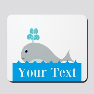 Personalizable Gray Whale Mousepad