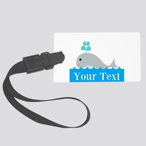 Personalizable Gray Whale Luggage Tag