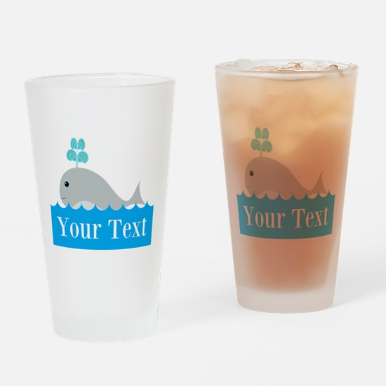 Personalizable Gray Whale Drinking Glass