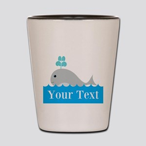 Personalizable Gray Whale Shot Glass