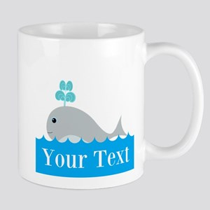 Personalizable Gray Whale Mugs