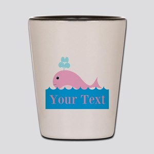 Personalizable Pink Whale Shot Glass