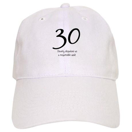 30th Birthday Baseball Cap By StargazerDesignsBirthday