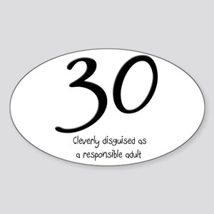 30th Birthday Oval Sticker