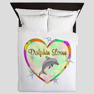 Dolphin Lover Queen Duvet