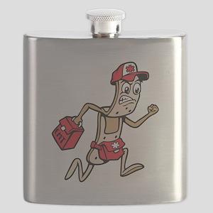 Bandage Paramedic Cartoon Flask