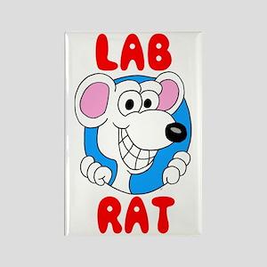 Science Lab Rat Rectangle Magnet