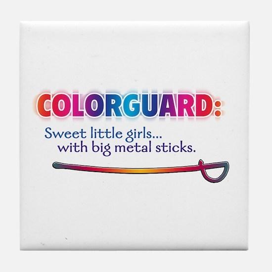 Sweet Girls / Big Metal Sticks Tile Coaster