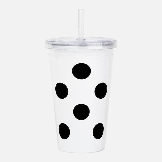 Black White Chauncys Acrylic Double-Wall Tumbler