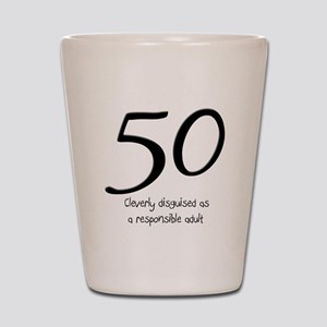 50th Birthday Disguise Shot Glass