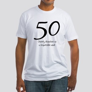50th Birthday Disguise Fitted T-Shirt