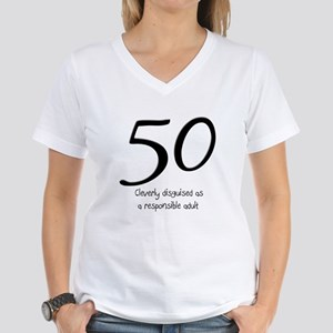 50th Birthday Disguise Women's V-Neck T-Shirt