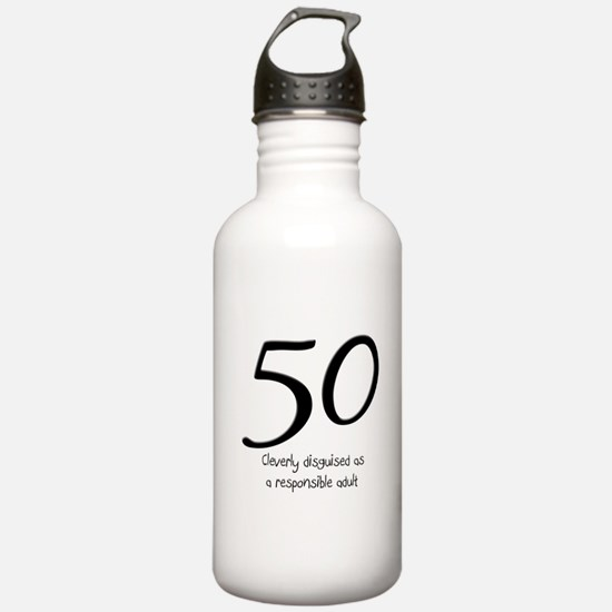 50th Birthday Disguise Water Bottle