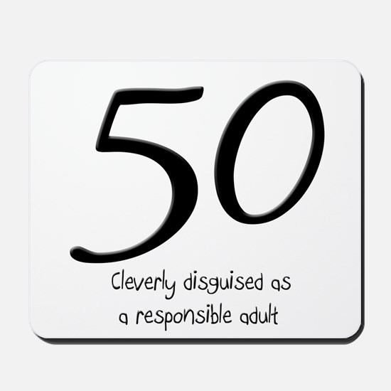 50th Birthday Disguise Mousepad