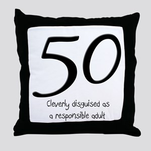 50th Birthday Disguise Throw Pillow