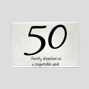 50th Birthday Disguise Rectangle Magnet