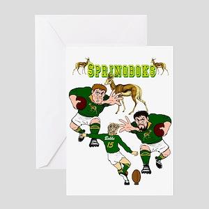 Springboks Rugby Greeting Cards