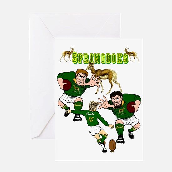 Springboks Rugby Greeting Cards