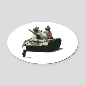 Hero of Tiananmen Square Oval Car Magnet