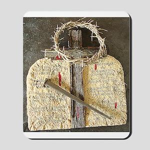 10 Commandments & Cross Mousepad