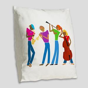 Play on... Burlap Throw Pillow