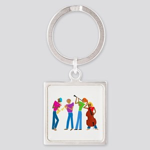 Play on... Square Keychain