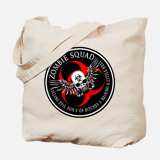 Zombie Squad 3 Ring Patch Revised.png Tote Bag
