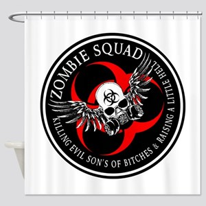 Zombie Squad 3 Ring Patch Revised Shower Curta