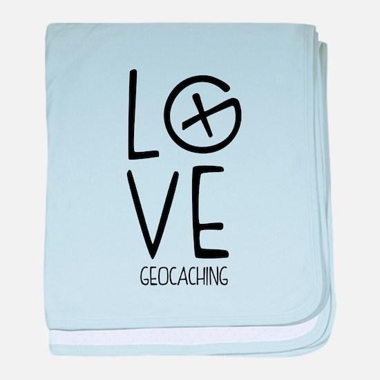 Geocaching Love baby blanket