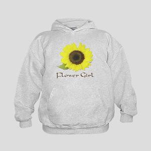 Sunflower Flower Girl Kids Hoodie