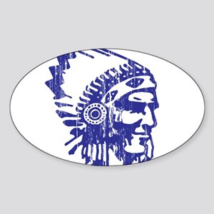 Blue Indian Vintage Sticker