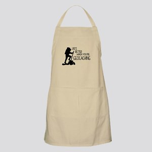 Lifes Better When Youre Geocaching Apron