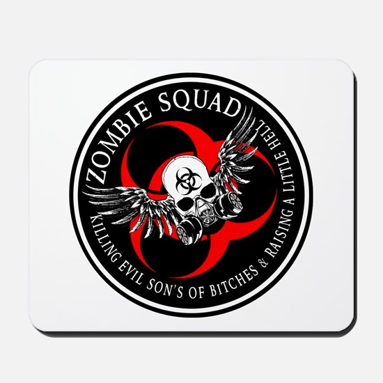 Zombie Squad 3 Ring Patch Revised.png Mousepad