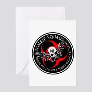 Zombie Squad 3 Ring Patch Revised Greeting Car