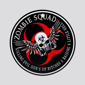 Zombie Squad 3 Ring Patch Revised Ornament (Ro