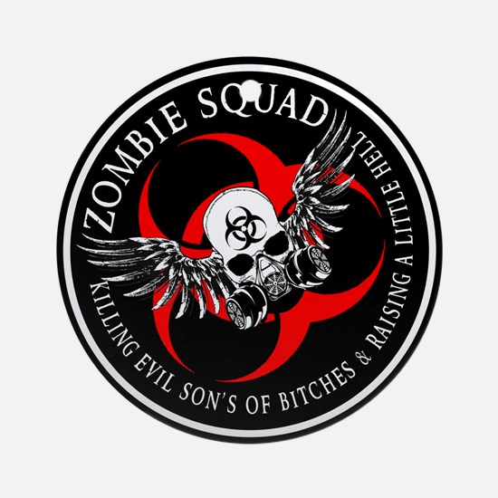 Zombie Squad 3 Ring Patch Revised.png Ornament (Ro