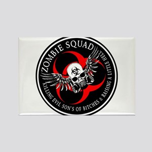 Zombie Squad 3 Ring Patch Revised Magnets