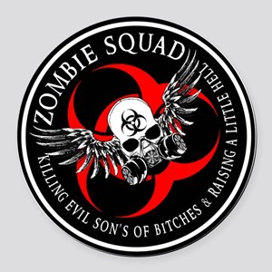 Zombie Squad 3 Ring Patch Revised Round Car Ma