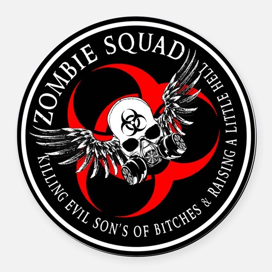 Zombie Squad 3 Ring Patch Revised.png Round Car Ma