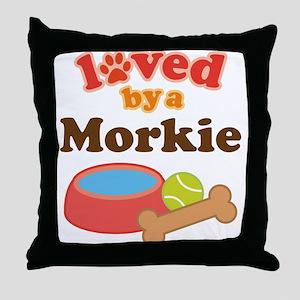Morkie Dog Throw Pillow
