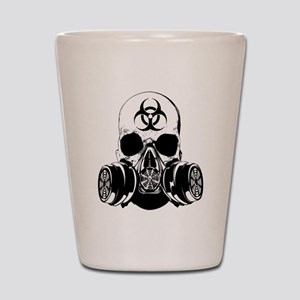 Biohazard Zombie Skull Shot Glass