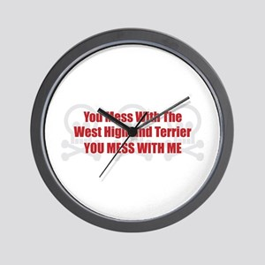 Mess With Westy Wall Clock